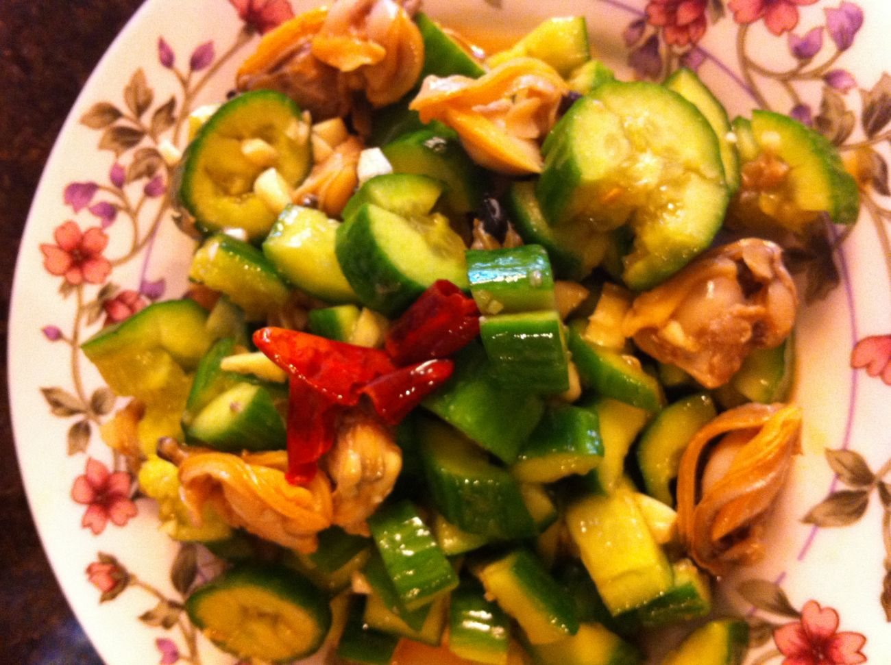 Clam With Cucumber