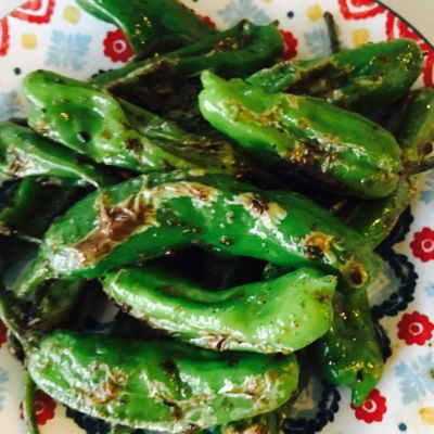 Sea salt sautéed Shishito peppers