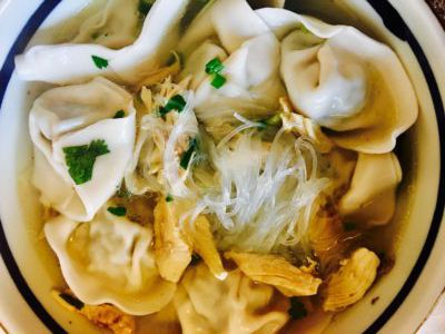 Watercress Shrimp Wonton Soup