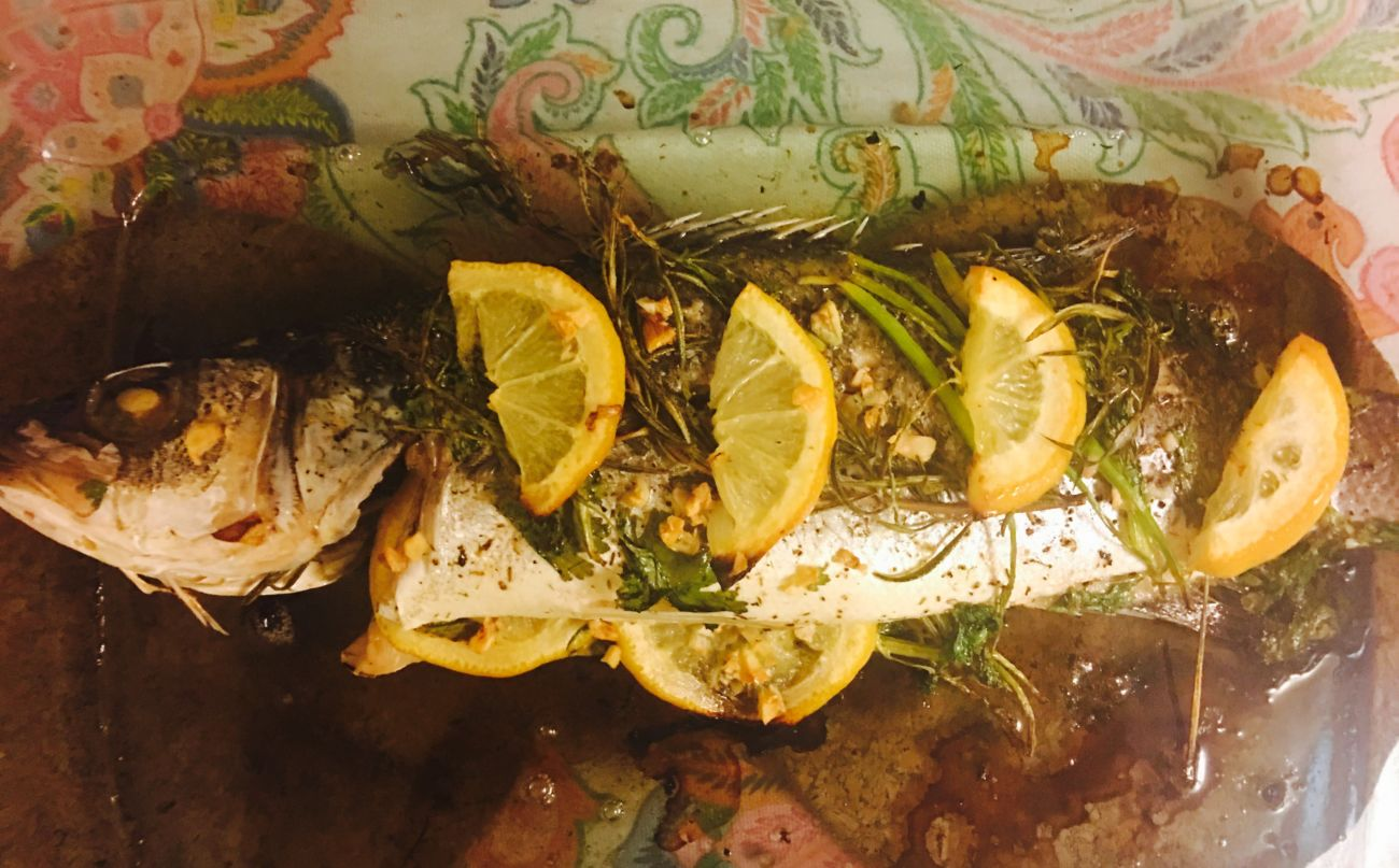Mediterranean Grilled Sea Bass