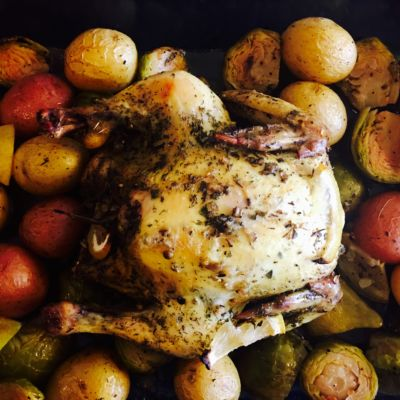 greek pot roasted chicken